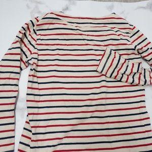 🧡Cream Red Navy Stripe Pullover